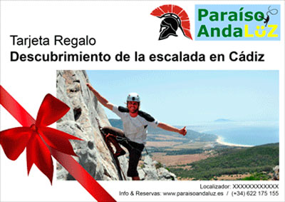Gift Card Introductory climbing course in Cádiz: Bolonia