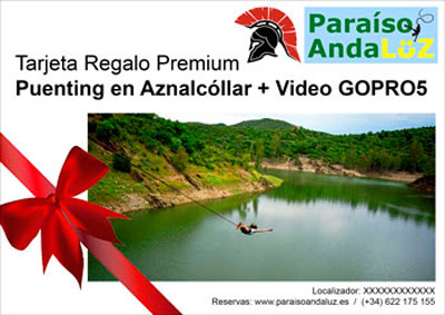 Gif Card Jumping in Sevilla, Aznalcollar + Gopro Video