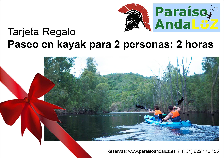 Tarjeta Regalo Paseo en kayak 2 personas 2 horas